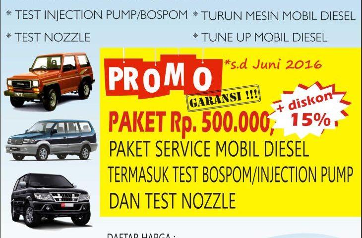 Opening Promo Bengkel Diesel Bandung AB Motor